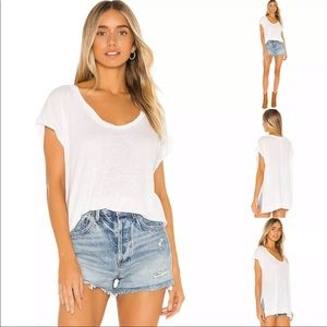 Free People Under The Sun White Tee XS X-Small New